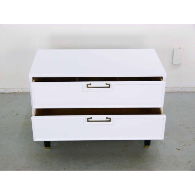 Asian Style White Chest by American Martinsville - Image 4 of 9