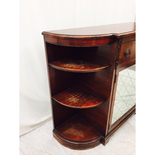 Vintage Mahogany Mirrored Console Chest - Image 5 of 11