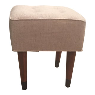 West Elm Custom Upholstered Footstool