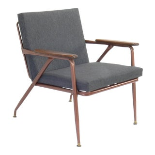 Mid-Century Modern Cosco Metal Frame Lounge Chair