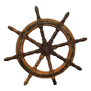 Vintage Ship's Steering Wheel
