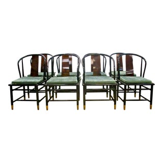 Henredon Asian Lacquered Dining Chairs - Set of 8
