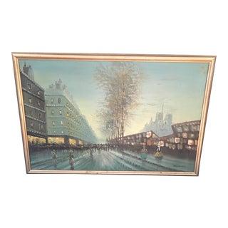 Vintage 1960s Street Scene on Canvas