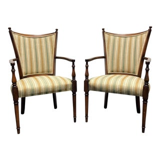 Sheraton Style Accent Club Chairs by Statesville Chair Co - Pair