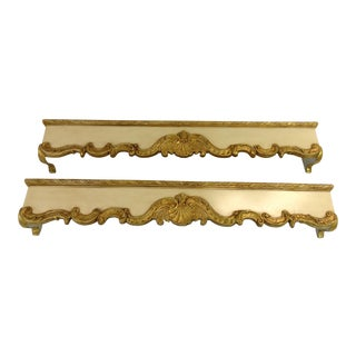 Friedman Brothers Hand Carved Wooden Cornices - A Pair