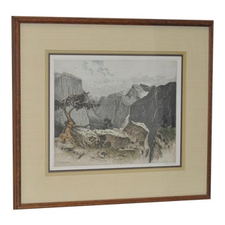 Yosmite Valley Etching by Josef Eidenberger