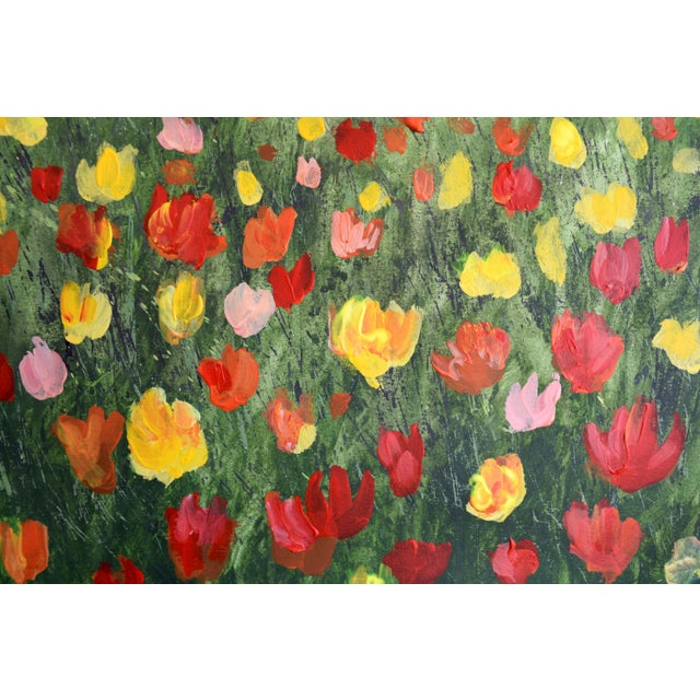 """Trees and Tulips"" Acrylic Painting - Image 7 of 7"
