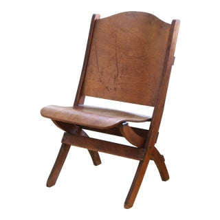 French Antique Wood Folding Chair