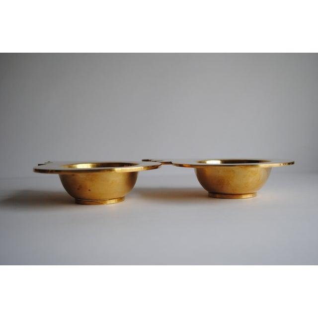 Image of Vintage Brass Ashtrays - Pair
