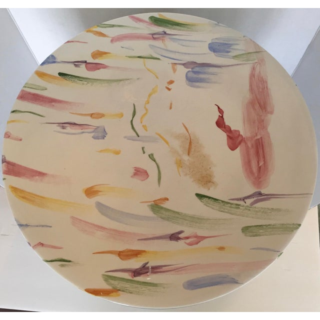 Image of Italian Hand Painted Ceramic Stool