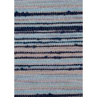 B. Berger Blue Stripe Chenille Fabric - 10 Yards