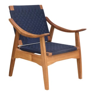 Mid-Century Modern Navy Izapa Arm Chair
