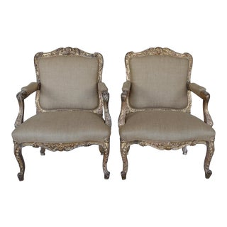 French Provincial Style Armchairs - A Pair