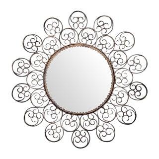 Spanish Gilt Filigree Sunburst Mirror