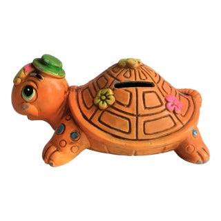 Orange Turtle Piggy Bank