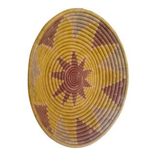 Boho Hand Woven Coile Basket