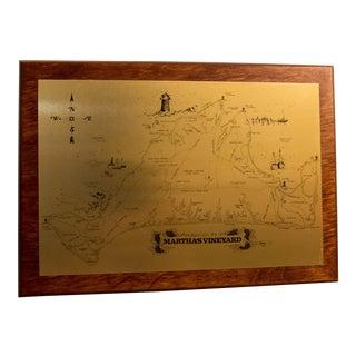 CRC & Company Martha's Vineyard Metal Photo Map