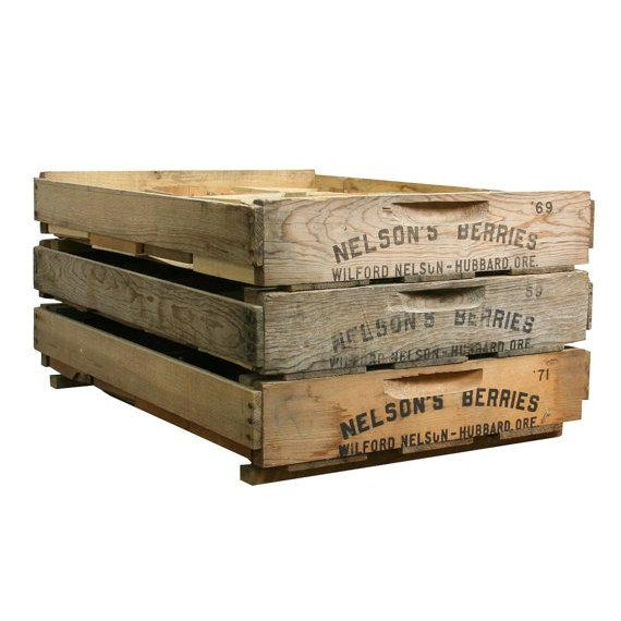 Vintage Wooden Berry Crates - Set of 3 - Image 1 of 4