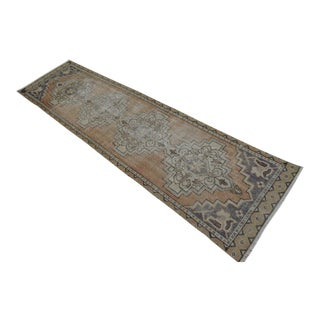 "Distressed Oushak Rug Runner - 2'7"" x 9'6"""