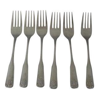 Shell Design Stainless Steel Salad/Dessert Forks S/6