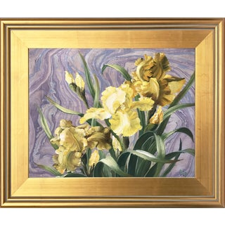 Framed Daffodils Oil Painting