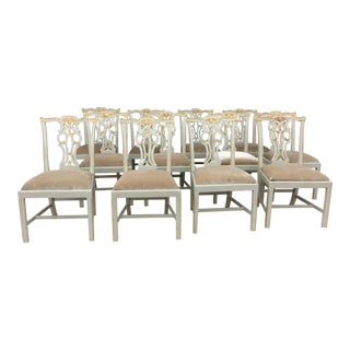Maitland-Smith Parcel Gilt Dining Chairs - Set of 12
