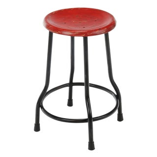 Red Farmhouse 18-In Stool