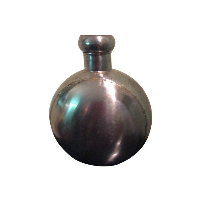 Brushed Nickle Ornamental Vase - Image 1 of 3