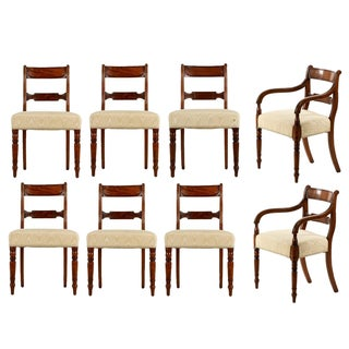 Antique English Regency Dining Chairs - Set of 8