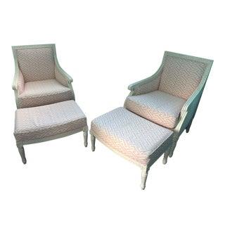Oly Studio Hanna Chair & Ottoman Set - A Pair