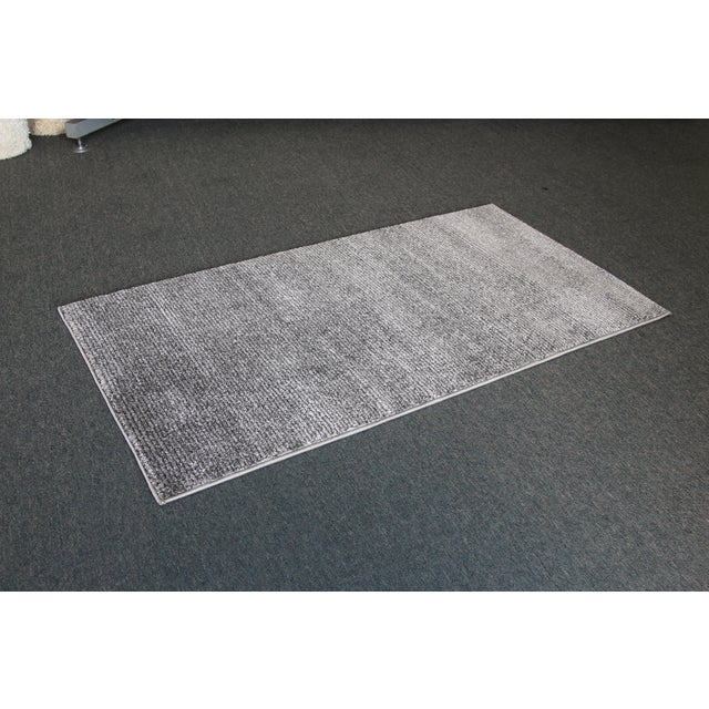 Gray Stripe Rug - 3′ × 5′ - Image 3 of 4