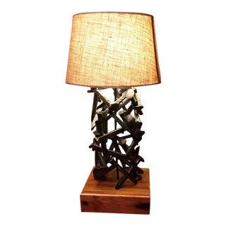 Railroad Spike Salvage Lamp