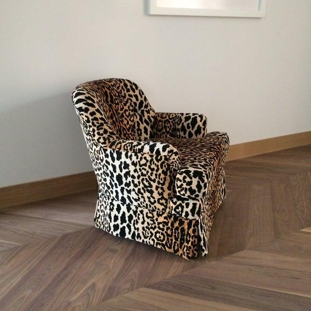 Mid Century Velvet Leopard Print Club Chair Chairish