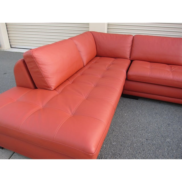 Roche bobois sunset orange sectional sofa chairish for Chaise roche bobois