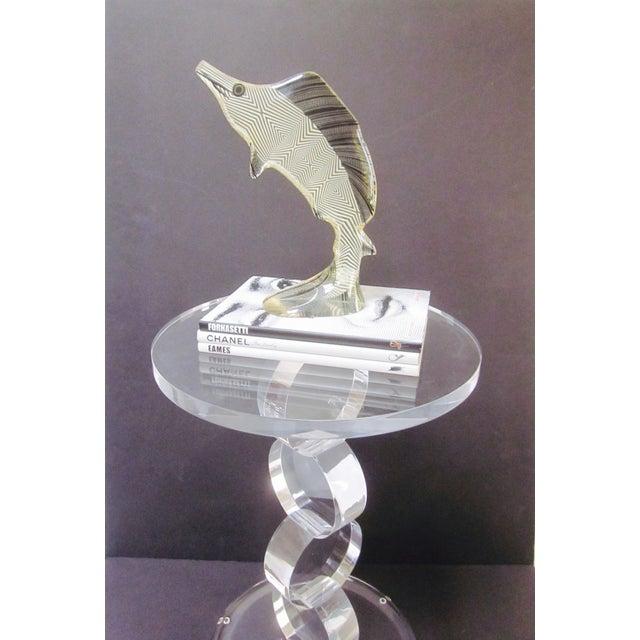 Image of Large Palatnik Lucite Op Art Fish Sculpture Pal