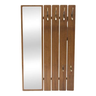 Danish Mid-Century Coat Rack & Mirror