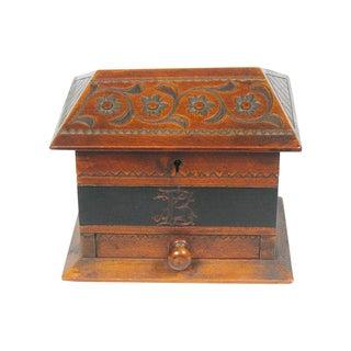 Antique Scandinavian Chip Art Box