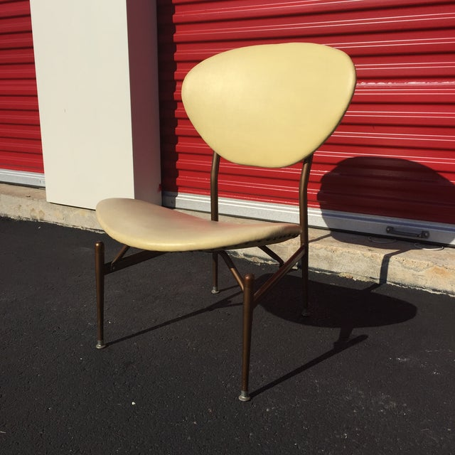 Mid-Century Modern Metal Framed Chair - Image 2 of 9