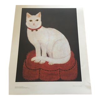 "Vintage Reproduction ""Tinkle"" Cat Print"