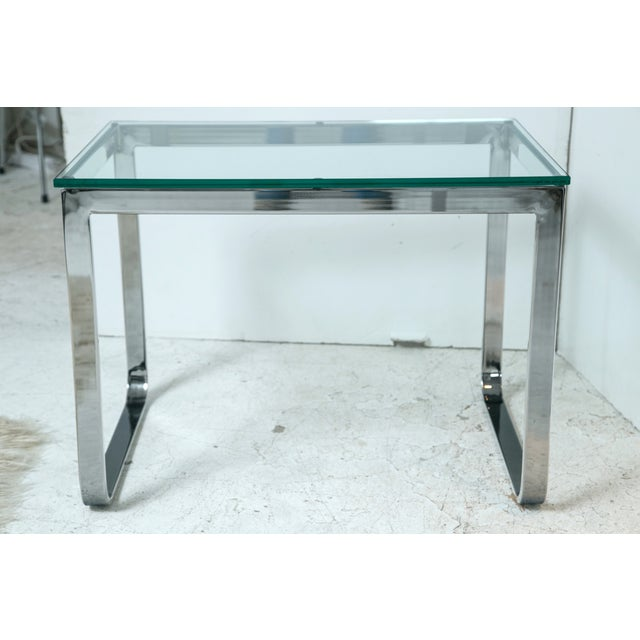Chrome And Glass Accent Table - Image 2 of 4