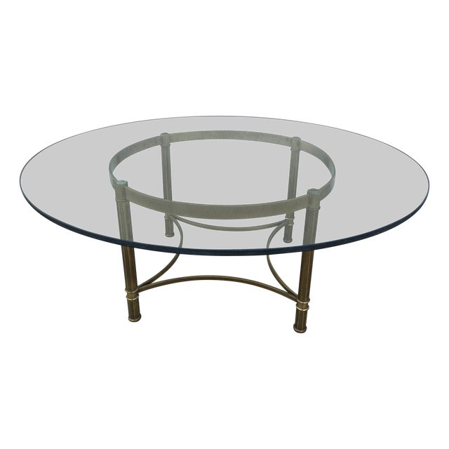 Brass Coffee Table, Made In Italy