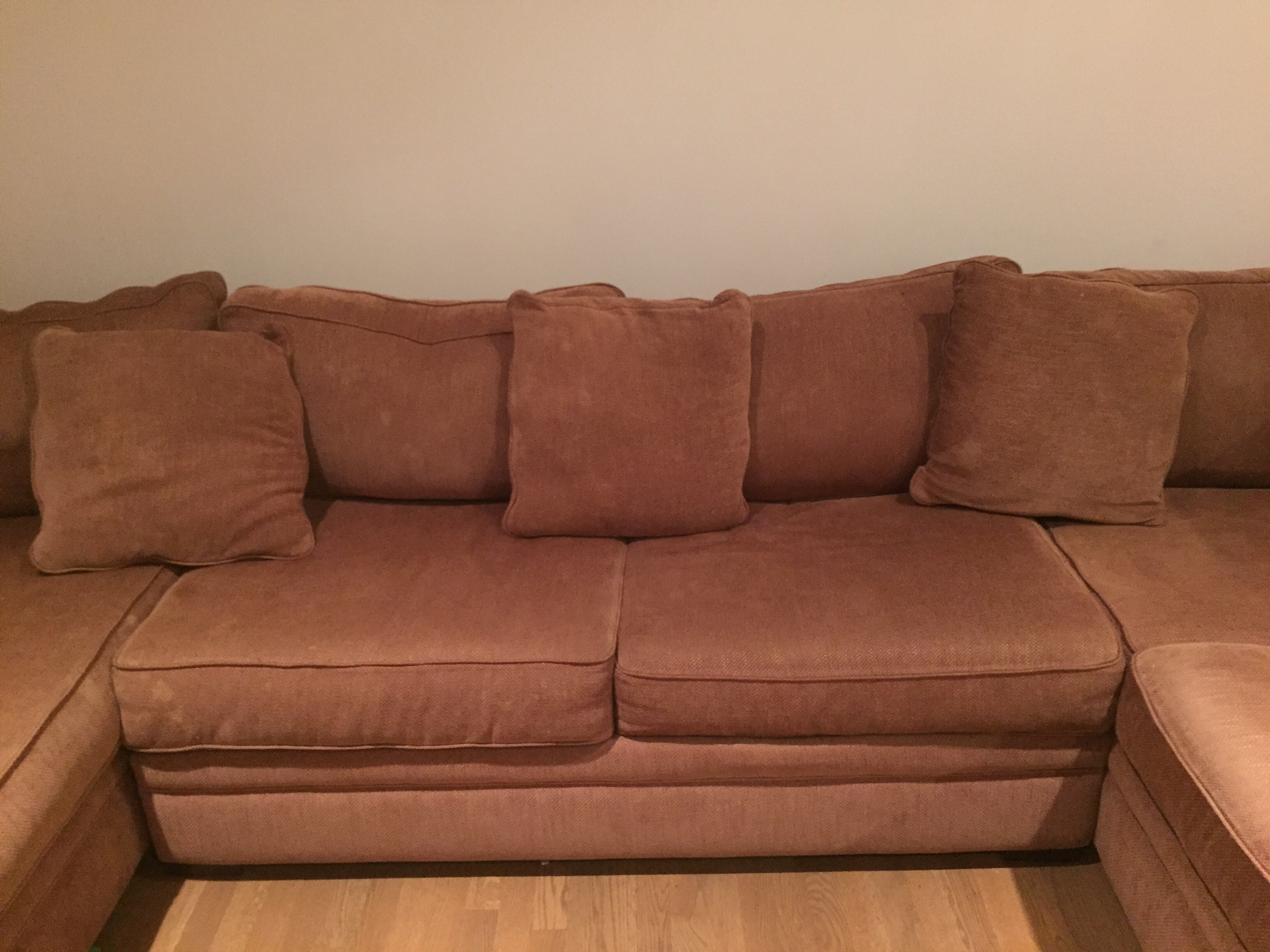 Extra Large Brown Sectional Sofa Amp Chaise Chairish