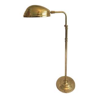 Mid-Century Modern Brass Shell Adjustable Floor Lamp