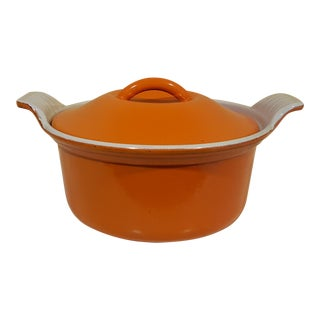Vintage Le Creuset #14 Mini Cocotte Small Covered Casserole Dish