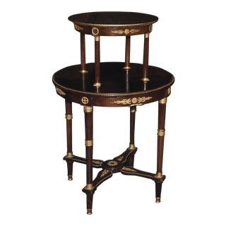 Doré Bronze Wooden Double Level Table