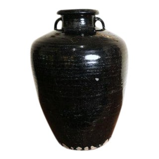 Antique Black Glazed Wine Jar