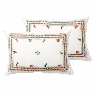 Chiapas Embroidered Pillow Covers - a Pair