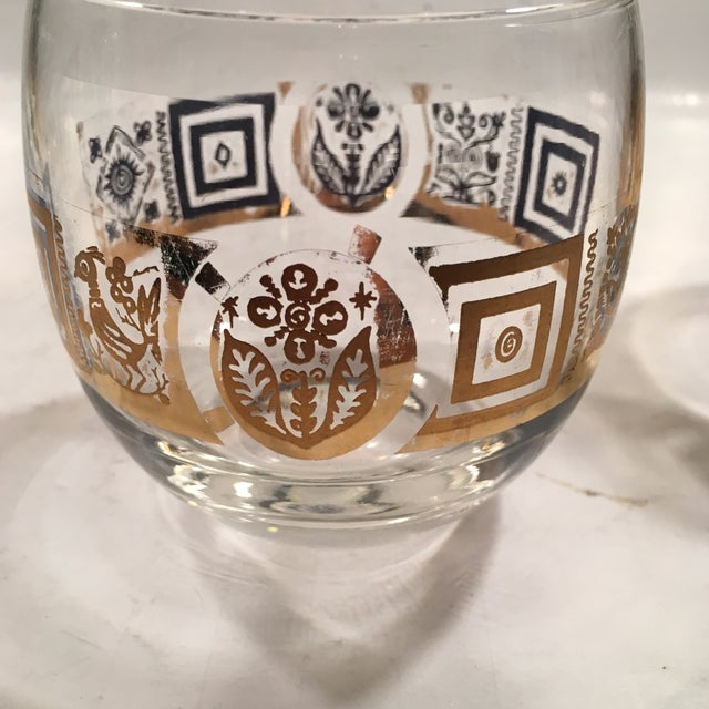 Vintage Culver Roly Poly Glasses - Set of 5 - Image 6 of 9