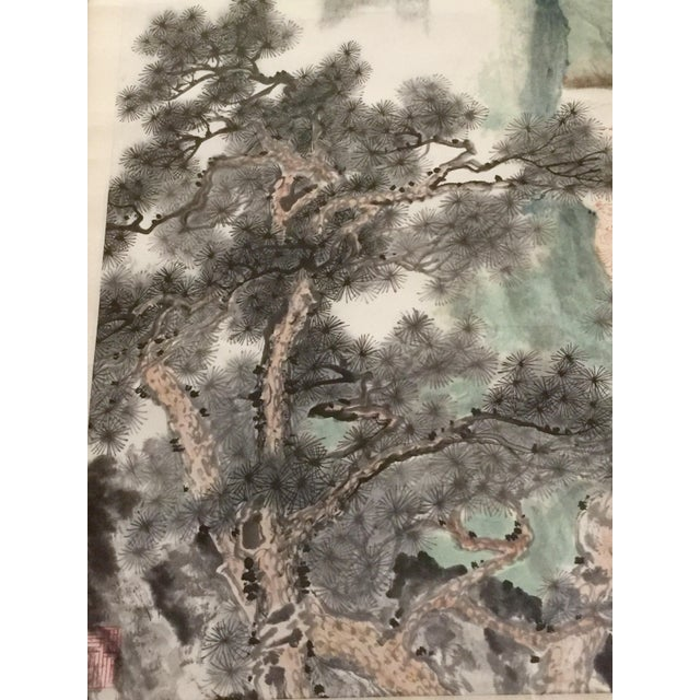 Vintage Asian Seaside Painting - Image 5 of 11