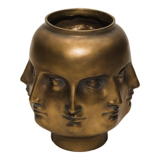 Gold Perpetual Face Vase